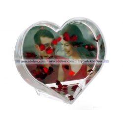 Szív alakú műanyag fotógömb