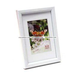 Műanyag fehér színű képkeret 15x21 cm