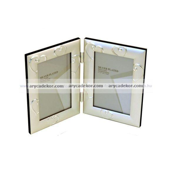 Silver dupla képkeret 10x15 cm