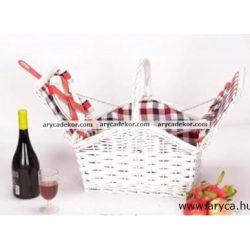 Piknik kosár 2 személyes, hűtőtáskával