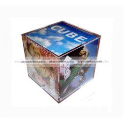 Műanyag fotókocka 8,5x8,5 cm