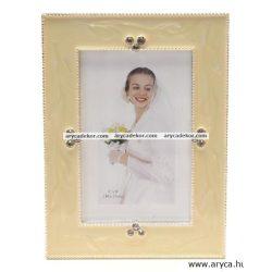 Esküvői fém kézzel polírozott képkeret 13x18 cm