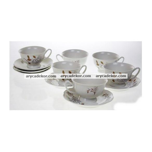 Porcelán teáscsésze+csészealj szett