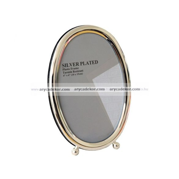 Krómozott ovális fém képkeret 10x15  cm