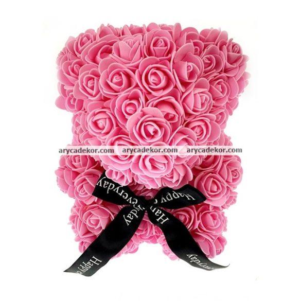 Rózsa maci 24 cm magas 17 cm széles (lila)