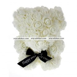 Rózsamaci 24 cm magas 17 cm széles (fehér)