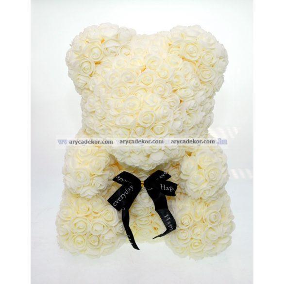 Rózsamaci 36 cm magas 27 cm széles (krém)