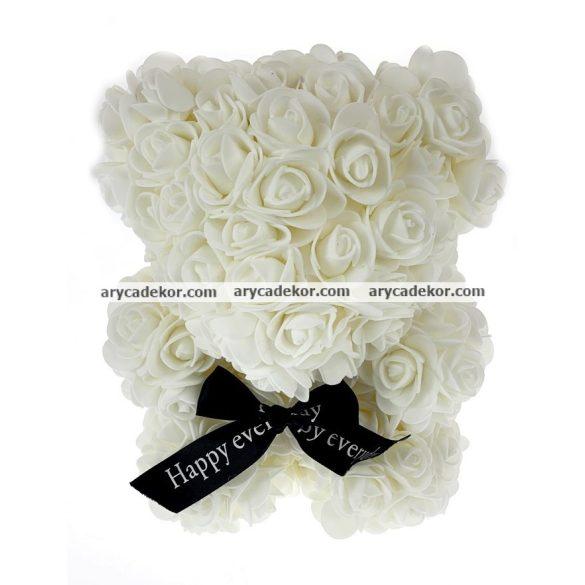Rózsamaci 36 cm magas 27 cm széles (fehér)