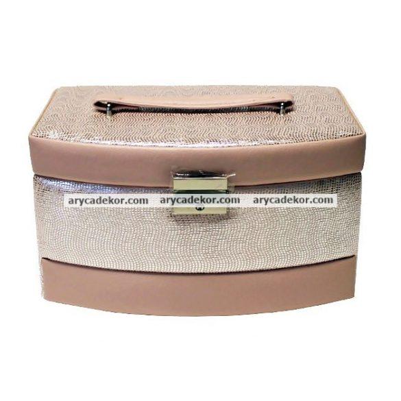 Bőrhatású ékszerdoboz  22x15 cm