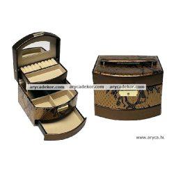 Bőrhatású ékszerdoboz A21449 GOLD DRAGON