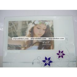 Színes üveg képkeret 10x15 cm