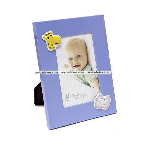 Baby fém képkeret 10x15 cm