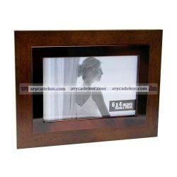 Fa MDF fotóképkeret 10x15 cm