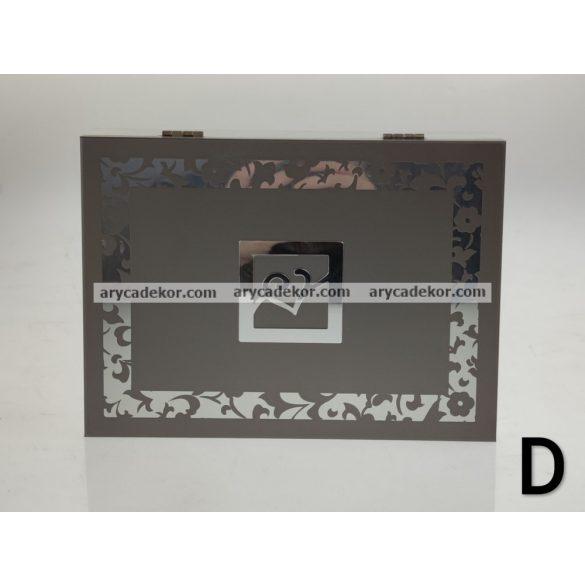 Fa ékszerdoboz 19x14 cm