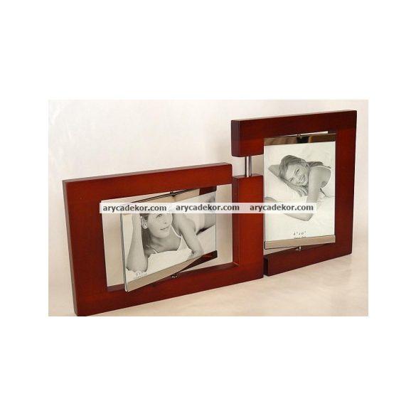 Fa osztott fényképtartó 10x15 cm/4 db