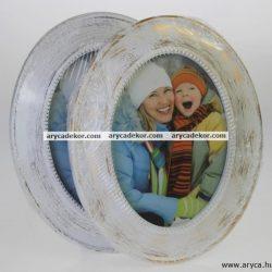 Műanyag ovális képkeret 13x18 cm
