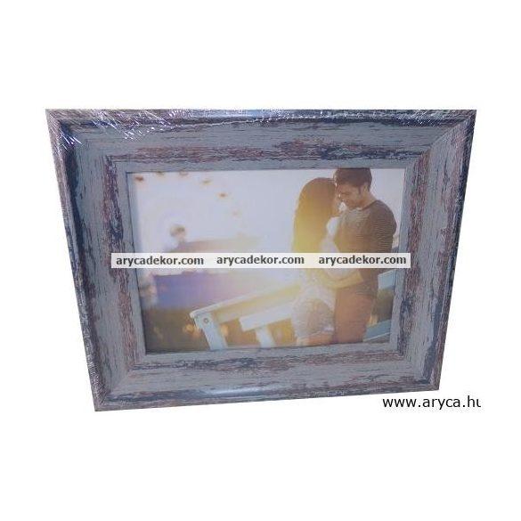 Antikolt hatású műanyag képkeret 15x20 cm