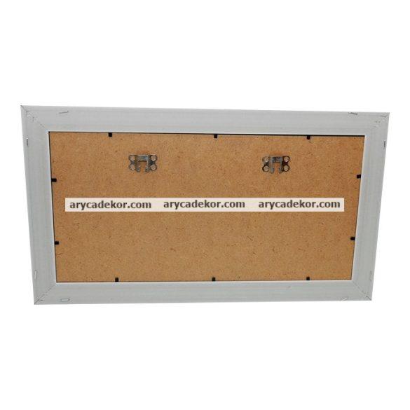 Fahatású műanyag képkeret paszpartuval 26,5x46,5 cm