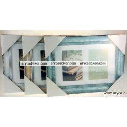 Fa hatású műanyag képkeret 2/10x15 cm