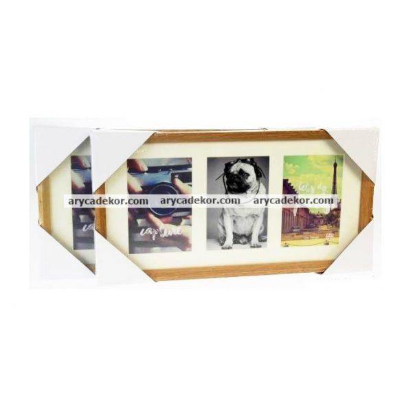 Fa MDF montázs képkeret paszpartuval 3/10x15 cm