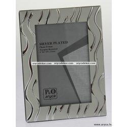 Silver fém képkeret 10x15 cm