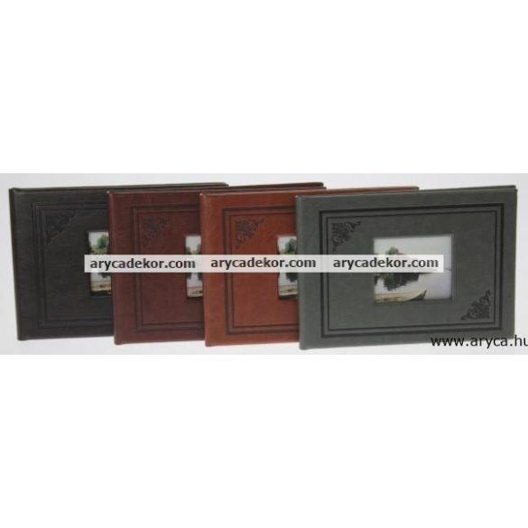 Bedugós bőrhatású fotóalbum 10x15 cm/24 db