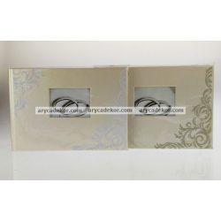 Esküvői bedugós bőrhatású fotóalbum 13x18 cm/24 db