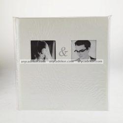 Esküvői bedugós bőrhatású fotóalbum 21X20 cm/24 db