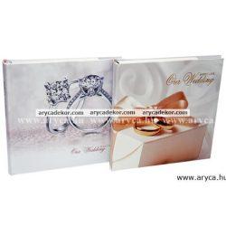 Bedugós esküvői melléírhatós fotóalbum 10x15 cm/100 db