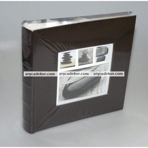 Fotóalbum bőrhatású bedugós 10x15 cm/200 db