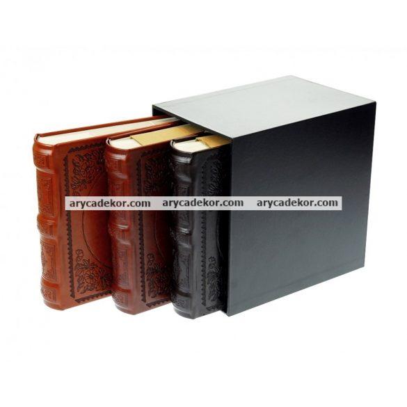 Fotóalbum bőrhatású bedugós melléírhatós 3x10x15 cm/200 db