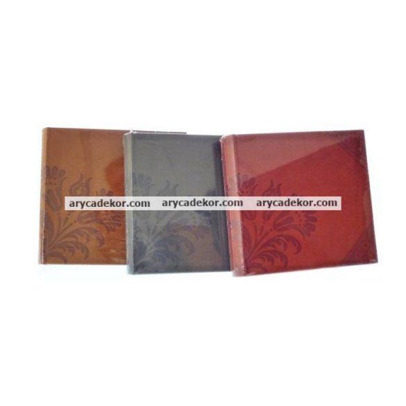 Fotóalbum bőrhatású bedugós, melléírhatós 10x15 cm/200 db