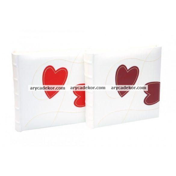 Bőrhatású bedugós esküvői fotóalbum 10x15 cm/200 db