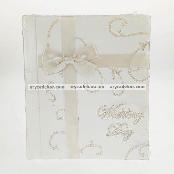 Bőrhatású bedugós esküvői fotóalbum 10x15 cm/48 db