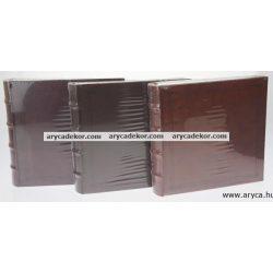 Fotóalbum bőrhatású bedugós melléírhatós 10x15 cm/80 db