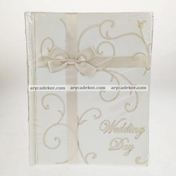 Bőrhatású bedugós esküvői fotóalbum 13x18 cm/100 db