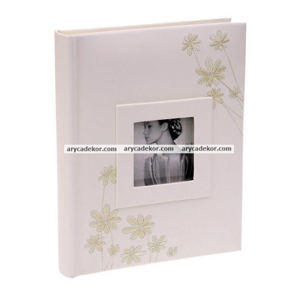 Esküvői bedugós bőrhatású fotóalbum 13x18 cm/48 db