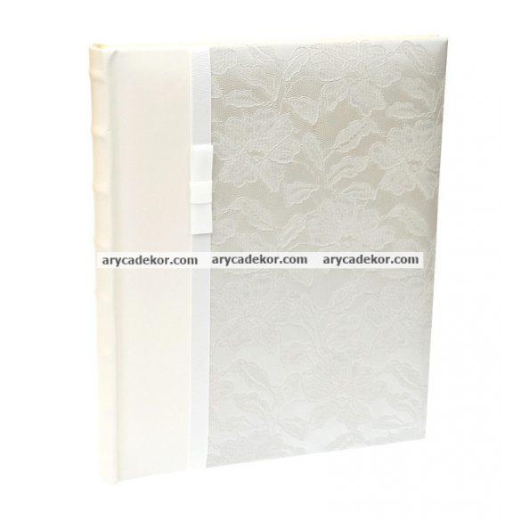 Esküvői öntapadós bőrhatású fotóalbum 24x29 cm