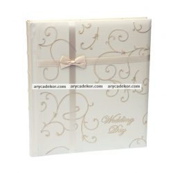 Bőrhatású öntapadós esküvői fotóalbum  40 oldal 29x32 cm
