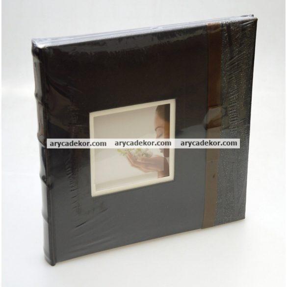 Bőrhatású beragasztós (fotósarkos) fotóalbum 40 oldal 24x24 cm