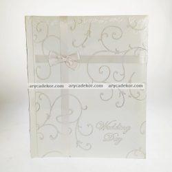 Bőrhatású fotósarkos esküvői fotóalbum  40 oldal 24x29 cm