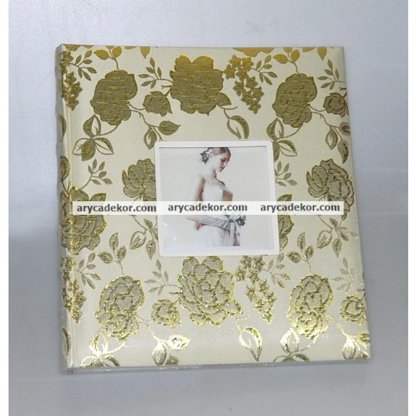Hagyományos (beragasztós) bőrhatású fotóalbum 24x29 cm 60 oldal
