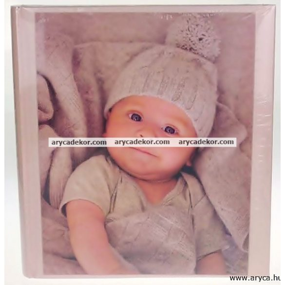 Fotóalbum babás fotósarkos (hagyományos, beragasztós) 29X32 cm 100 oldal