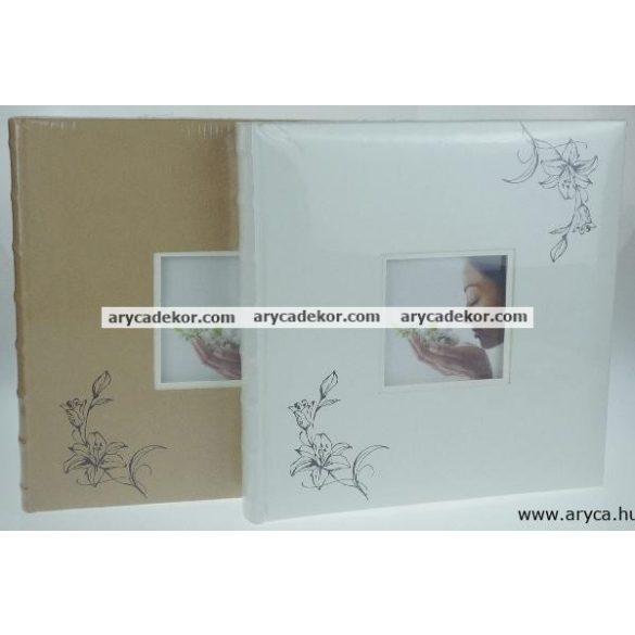 Bőrhatású hagyományos (beragasztós) fotóalbum 32x32 cm