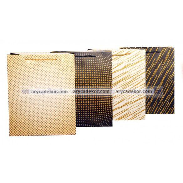 Glitteres ajándéktasak méret: nagy (32x26 cm) 12 db/csomag