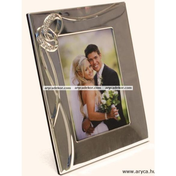 Esküvői krómozott képkeret 13x18 cm