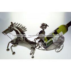 Fém bortartó lovaskocsi