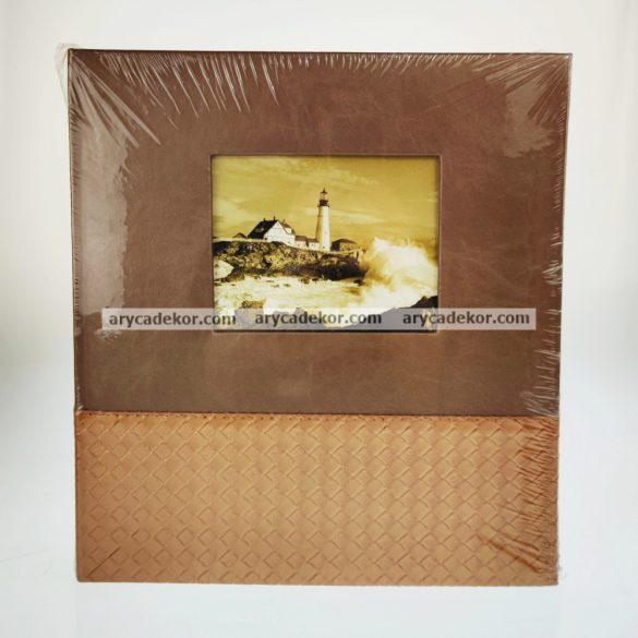 Hagyományos (beragasztós) bőrhatású fotóalbum 29x32 cm 100 oldal