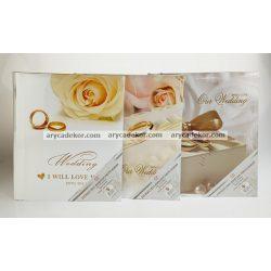 Öntapadós esküvői fotóalbum 20 oldal 21x29,7 cm