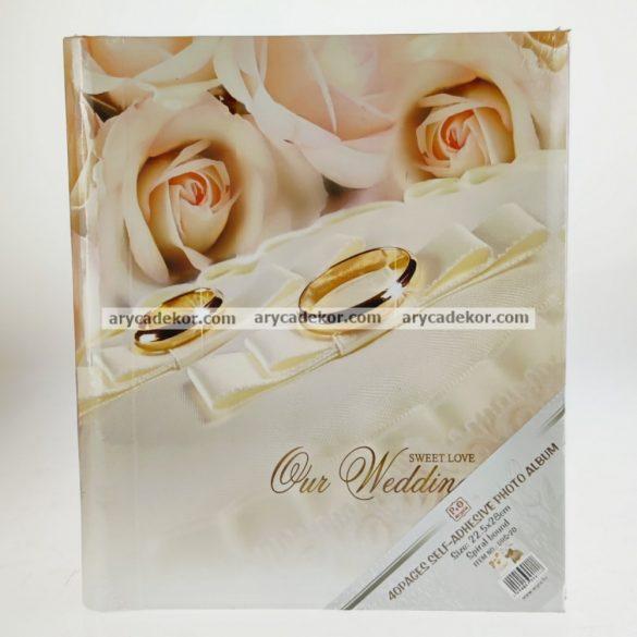 Öntapadós esküvői fotóalbum 40 oldal 28x21 cm